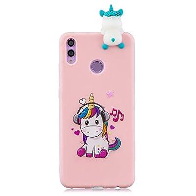 ChoosEU Compatible con Funda Huawei P Smart 2019 / Honor 10 Lite Silicona 3D Dibujos Unicornio Carcasas TPU Case Antigolpes Bumper Cover Protección Caso Flexible Gel - Unicornio