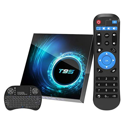 ALLWIN Android 10.0 TV Box [4GB RAM 64GB ROM] Android TV Box Quad-Core H616 Chip Support 6K Full HD 2.4G / 5G Dual-Band Wi-Fi /BT5.0/H.265