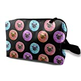 Pug Strawberry Donut Multifunction Travel Makeup Bags Cosmetic Bag Purse Organizers With Zipper