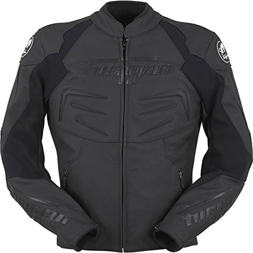 Furygan POWER Lederjacke Motorrad Herren Sport - schwarz Größe L