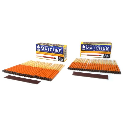 powerful UCO storm, waterproof, windproof match, burning time 15 seconds – 50 matches