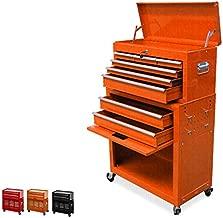 8 Drawer Tool Box, Large Capacity Tool Chest, Detachable Tool Storage Cabinet, Four-Wheel Rolling Tool Box, Keyed Locking System Tool Box Organizer,orange