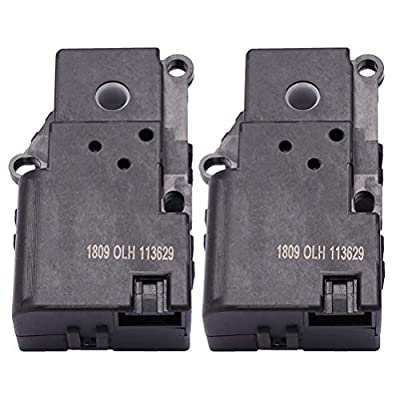 ECCPP Temp Aux Air Door Actuator fit Chevrolet Trailblazer GMC Envoy Isuzu Ascender Replace 15-72811 88892975-HVAC Blend Door Actuato,2Pack