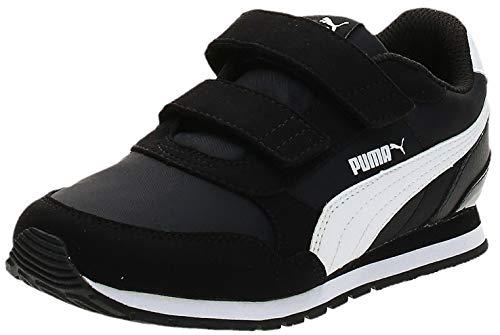 PUMA St Runner V2 Nl V Ps Sneaker, Black White, 34 EU