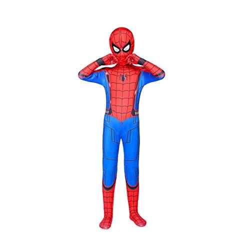 Kids Spiderman Body Miles Miles Morales Mscara Halloween Cosplay Disfraces Performance Jumpsuit Zentai 3D Impreso Estupado Super Heros Mallas Onesies,H-M155~165cm