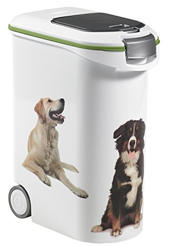 Curver 03906-P70-00 Pet Voeding Container 20 kg, 49,3 x 27,8 x 60,5 cm, 54 L
