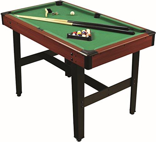 1PLUS 4ft Billardtisch mit 2 Queues, Kugelset, Dreieck - Pool spielen wie die Profis - ca. 122 x 67 x 78 cm (L x B x H)