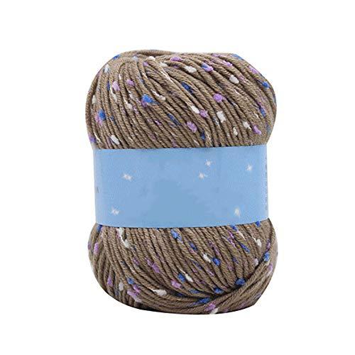 dljztrade breigaren, zacht, duurzaam, zacht, voor kleding, sjaal, haken, dekens, handschoenen, truien, geweven, doe-het-zelf materiaal grijs.