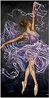 QGHMVダンサーDiy5Dダイヤモンドペインティングバレエガールクロスステッチフルラインストーン刺繡ステッカー画像キット家の装飾アートワーク40X50cm(LF1539)