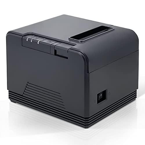 Impresora Termica de Tickets, Impresora Recibos, Impresora Ticket, Corte automatico, 200mm/s,Papel 80mm, Sin Tintas Sin Cartuchos, Compatible con Windows/Linux/Android/Mac. AI