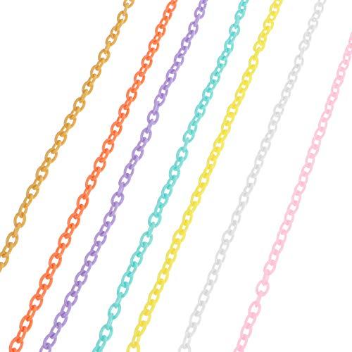 EXCEART 10 Hebras de Cadenas de Plástico Suministros de Cadena de Fabricación de Joyas para Gafas DIY Cadenas de Cordón de Joyería 42X0. 5Cm/ 16 ¡5X0! 2 Pulgadas (Estilo Aleatorio)