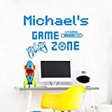 LKJHGU Stickers muraux en Vinyle sur Le thème du Joueur de Jeu Gamepad | Cadeaux de fête d'anniversaire de Chambre d'enfant