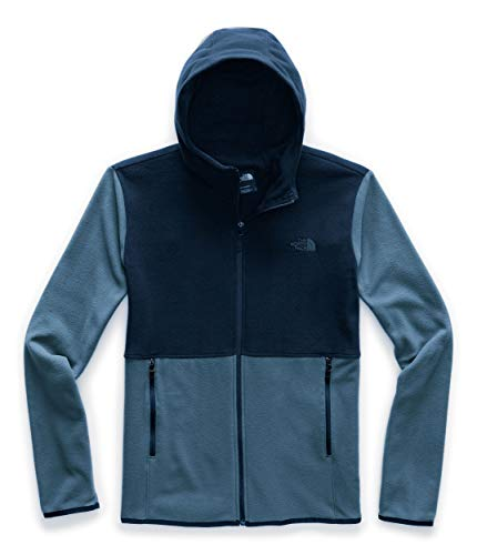 The North Face Men's TKA Glacier Full Zip Hoodie, Blue Wing Teal/Urban Navy, L