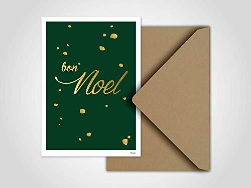 Bon Noel — Weihnachtskarte, Grußkarten, Karten, Weihnachten, Schnee, Handschuh, Schneeball, Winter, Tannenbaum, Familie, Weihnachtsgeschenk