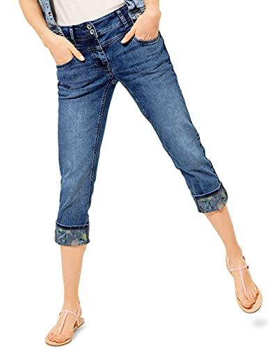 Cecil Damen Scarlett Jeans, Authentic mid Blue wash, W31/L22