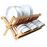 Escurreplatos Drain Rack Dish Rack Bamboo Dish Rack Lavavajillas Plegable Acero...