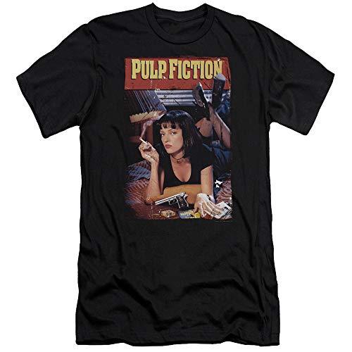 Pulp Fiction - - T-Shirt Slim à l'affiche pour Hommes, Large, Black