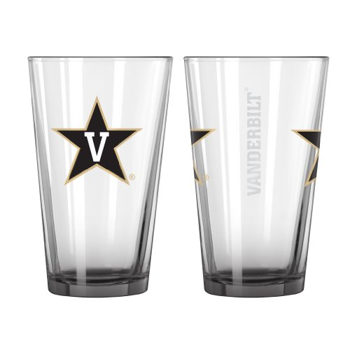 Boelter Brands NCAA Vanderbilt Commodores Elite Pint Glass, 16-Ounce, 2-Pack