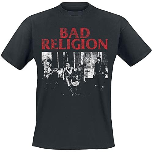 Bad Religion Live 1980 Hombre Camiseta Negro M, 100% algodón, Regular