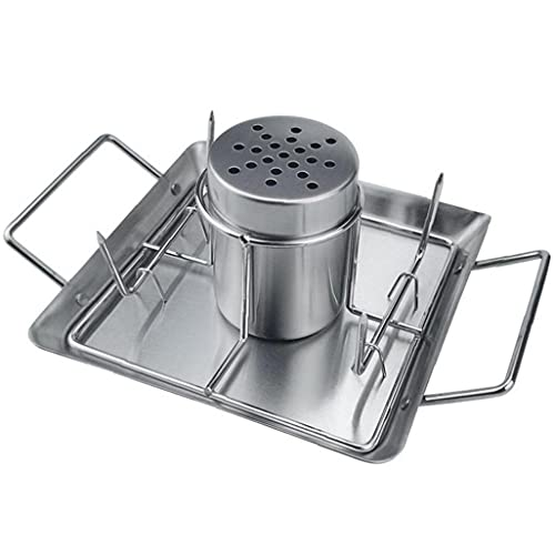 PiniceCore Chicken Roaster Rack Stainless Steel Beer Can Chicken Griller Holder Bbq Accessories Drip Pan