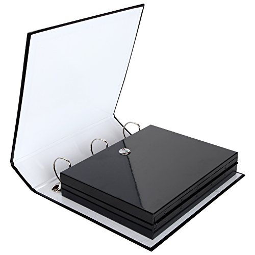 "Safe Solutions Binder Diversion Safe with Lock (11.15"" x 8.7"") - Hidden Safe Container for Money, Jewelry or Valuables - Great for Home or Office - Convenient, Easy to Use - Durable Steel Construction"