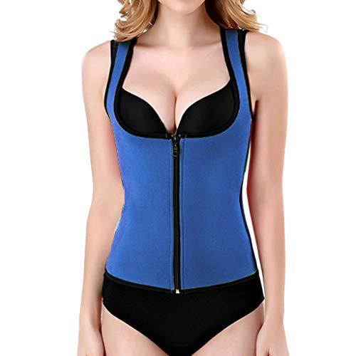 Women Fitness Corset Sport Body Shaper Zipper Vest Waist Trainer Workout Slimming Shapewear Weight Loss Shirt Tank Top