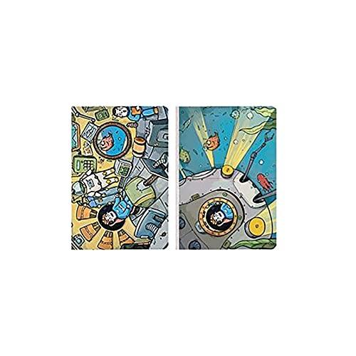 Diario Exquisito Diario Cuaderno B6 con Papel de cuadrícula Punteado Premium para Alinear para Estudiantes Cubiertas de Colores de Escritura de Dibujo Sketchbook (Quantity : 2)