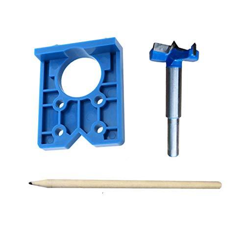 Scharnierbohrer, 35mm Scharnier Bohren Jig Bohrschablone, Bohren Locator Bohrer Topfscharniere für Holzverarbeitung, Lochbohren, Bohrschablone, DIY Werkzeug