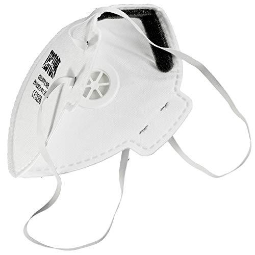1 Feinstaubmaske Schutzklasse FFP2, faltbar, mit Ventil - 3