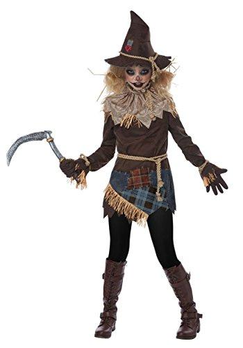 Girls Creepy Scarecrow Costume Small