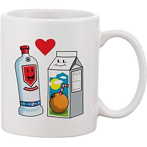 Taza de café de cerámica El vodka ama el zumo de naranja Zumo de naranja Linda pareja destinada a ser un destornillador Gráfico