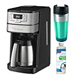 Cuisinart DGB-450 Blade Grind and Brew 10-Cup Thermal Carafe Coffeemaker with Descaling Liquid and Tumbler Bundle (3 Items)