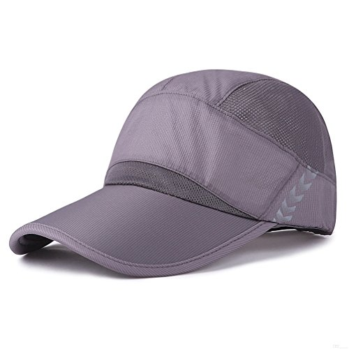 Baseball cap, Quick Dry Lightweight Running Hat Waterproof Breathable Unstructured Long Bill Sport Caps Cooling Mesh for Unisex Fashion Men and Woman Outdoor Clothes Under 10 20 Hats Dark Grey TU76