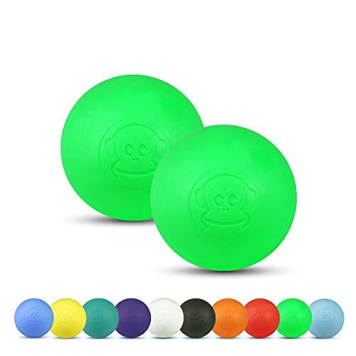 Captain LAX Massageball Original - Lacrosseball 2er Set, aus Hartgummi, mit den Maßen 6 x 6 cm geeignet für Triggerpunkt- & Faszienmassage/Crossfit