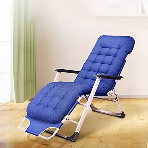 BKWJ Silla reclinable de Ocio Zero Gravity para Interiores y Exteriores, sillón ergonómico Plegable con Almohadilla de cojín Grueso y diseño Ajustable