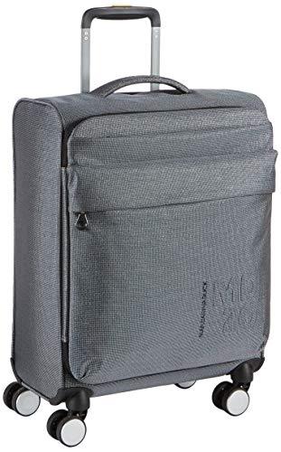 Mandarina Duck Unisex-Erwachsene Md20 Lux Trolley Handtasche, Schwarz (Titanium), 40x55x20 centimeters (W x H x L)