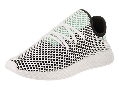 adidas Mens Originals Deerupt Runner Core Black/Easy Green/White Mesh Size 11.5