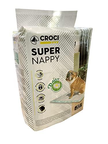 CROCI DAISY SUPER NAPPY, Tappetino Ultra Assorbente, Tappetino Antiodore e Profumato, Set di 30, Misura 84x57