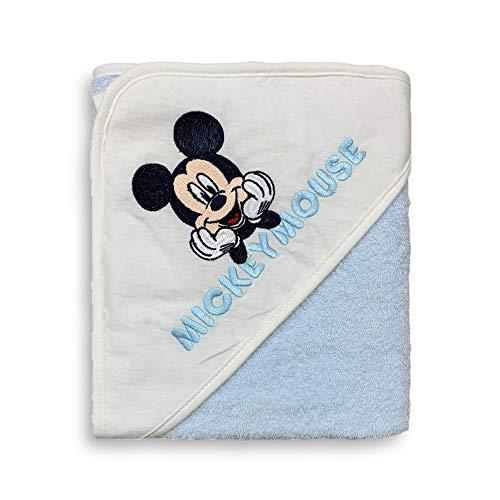 Ellepi Accappatoio Baby Triangolo Disney Mickey Mouse con Ricamo in Spugna Cotone 3758