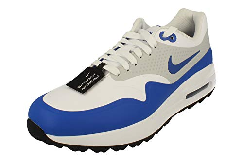Nike Herren Air Max 1 G Golfschuhe, Mehrfarbig (White/Game Royal/Neutral Grey 102), 44.5 EU