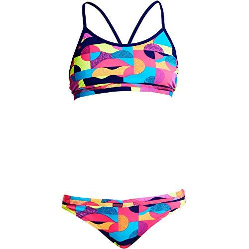 Funkita Bikini Mädchen Mad Mist aus chlorresistentem Material und UV-Schutz 50+, Kinder Größen:164