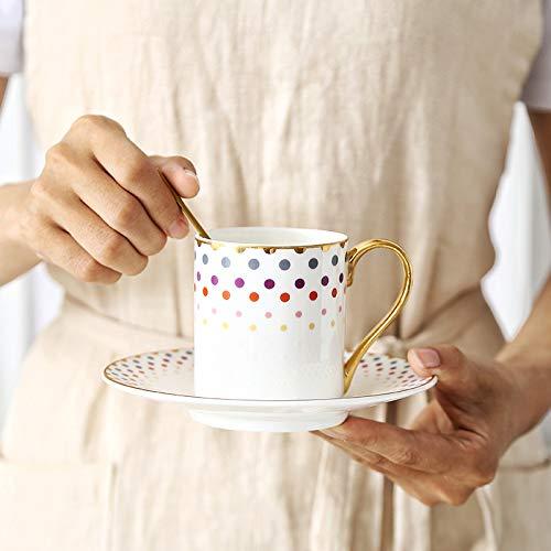 HRDZ Pequeña Exquisita Taza de café de Porcelana Ligera Taza de Agua Taza de cerámica Femenina Linda Chica casa