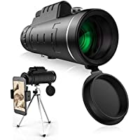 40x60 Monocular Telescope with Smartphone Holder & Tripod for Free