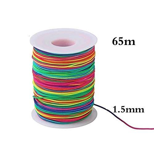 Sin FXF-frx, 1,5 mm Cuerda Elástica Para Pulseras 65m Cordón Elástico Ajuste Para la Fabricación de la Joyería de BRICOLAJE Artesanía Fuerte Hilo de Coser Suministros