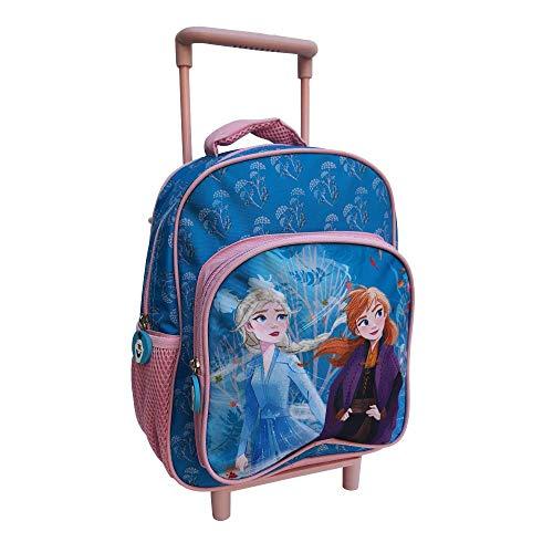 Zaino Asilo Trolley Frozen II Disney Elsa Anna 2 Ruote Manico ALLUNGABILE CM.30 - FZN0617