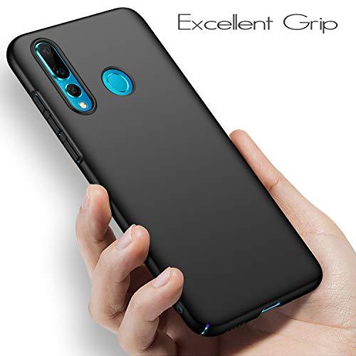 anccer Kompatibel mit Huawei Nova 4 Hülle, [Serie Matte] Elastische Schockabsorption und Ultra Thin Design (Glattes Schwarzes) - 5