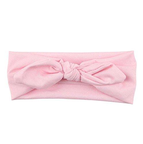 Tonsee® Femmes Yoga élastique Bow Hairband Turban noué lapin cheveux bande serre-tête
