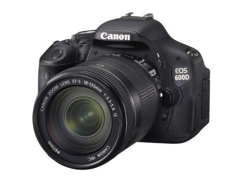 Canon EOS 600D SLR-Digitalkamera (18 MP, 7,6cm (3 Zoll) schwenkbares Display, Full HD, Kit inkl. EF-S 18-135mm 1:3,5-5, 6 IS)