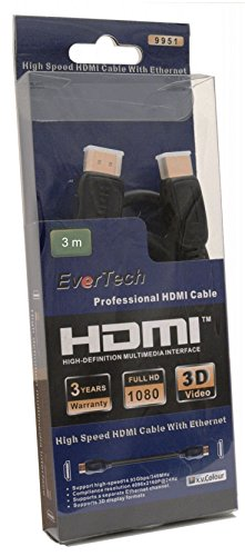 Evertech 3 Meter HDMI HighSpeed...