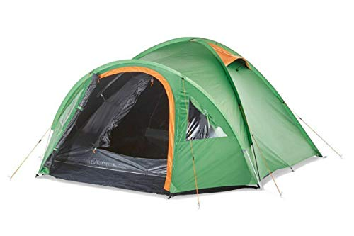 Crivit 4 Person Igloo Double Roof Tent 4 Person Camping Tent Darkened Green